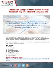 Global and Europe Almond Butter Market Research Report - Radiant Insights.pdf