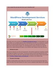 How a project life cycle does look in the case of a WordPress site_.docx