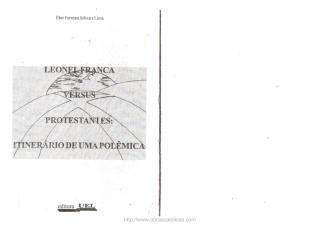 Leonel Franca Versus Protestantes - Eber Ferreira Silva Lima.pdf