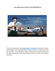 Learn Flying Lessons Australia at the Affordable Fees.pdf
