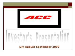 ACC investor presentation.ppt