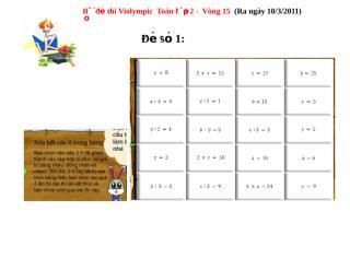 violympic - vong 15 toan lop 2 ( de 1).doc
