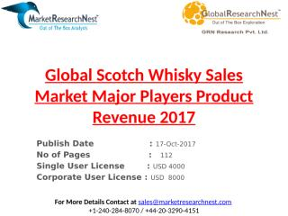 Global Scotch Whisky Sales Market Major Players Product Revenue 2017.pptx