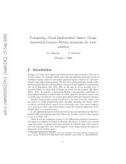 Okonek Teleman Comparing virtual fundamental classes_ Gauge theoretical Gromov Witten Invariants for toric varieties.pdf