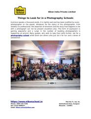 Things to Look for in a Photography Schools.pdf