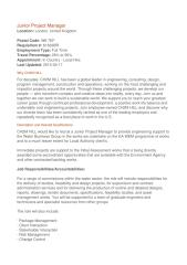 Ch2m Hill Junior Project Manager ad.docx