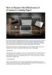 How to Measure The Effectiveness of eCommerce Landing Pages.pdf
