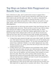 Top Ways an Indoor Kids Playground can Benefit Your Child 1.pdf